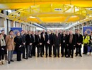 Representatives of the F4E and ITER IO teams involved in the construction of the PF Coils building with the main contractors.