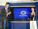 Inauguration event, 28 June 2007. Spanish Minister Cabrera Calvo-Sotelo and Commissioner Potocnik unveiling the logo