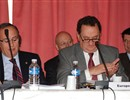 First ITER Council. The European Delegation at the ITER Council: Pablo Fernandez Ruiz, Jose Manuel Silva Rodriguez, Carlos Varandas (left to right), and Didier Gambier in the background