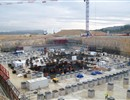 A panoramic view of the Tokamak complex taken in early December 2011 showing the foundations of the last plinths, December 2011