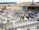 Tokamak complex: 280 plinths and 222 anti-seismic bearings already in place using 760m3 of concrete and 300 tonnes of iron, January 2012