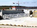 Panoramic view of the Tokamak pit with more levelling works completed, PF Coils building in the back, June 2012.