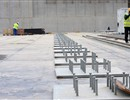 The new upper base slab will be supported by the 493 anti-seismic bearings and plinths