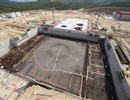 The Tokamak Pit and the Assembly Building Slab from the crane September 2013