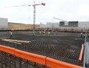 Reinforcement works on going center of the Tokamak pit