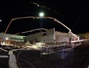 Night Concrete Pouring Plot 8 - B2 Slab 660 m2, 1000 m3