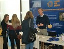 Christine Konrath and Marcel Dolieslager informing German students about career possibilities at F4E.