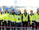 F4E Director Johannes Schwemmer, MEP Marian-Jean Marinescu and F4E project managers visit the Tokamak Complex during the tour of the buildings F4E is currently constructing.