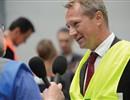 Professor Henrik Bindslev, F4E Director, explaining Europe's contribution to ITER to BBC radio