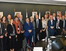 The F4E Director together with the participants of the EIROforum Council meeting.