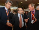 Right to left: H.Bindslev, F4E Director, welcomes J.Sanchez, CIEMAT Director and P.Torres, Secretary of Enterprise and Competitiveness of Catalonia at the F4E exhibition stand