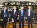 Director of  Consorzio RFX, R. Piovan, ITER Director General, Prof. O. Motojima, F4E Director F. Briscoe, and President of Consorzio RFX, Prof. F. Gnesotto in front of the RFX machine © martimex