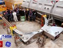 The GE/Alstom team by the TF coil before its transportation to CEA Saclay for testing