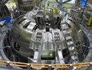 The process of assembly has started: The first two of JT-60SA's TF coils are in place in the tokamak