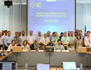 The design review panel participants during their meeting in F4E, Barcelona.
