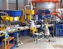 Technicians from CNIM, the F4E contractor involved in the manufacturing of the Poloidal Field coils, performing maintenance works on the tooling used for the winding of the conductor, PF coils factory, February 2019, Cadarache