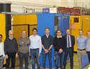 Representatives from F4E, Ampegon, ITER IO and Swiss Plasma Centre during the tests of the first High Voltage Power supply unit © Fusion for Energy