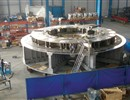 Preassembly of the cryostat base in the manufacture's factory
