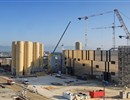 Finalising the installation of Europe's cryogenic tanks on-site, ITER Cryoplant, April 2018.