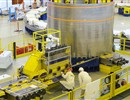 CNIM technicians supervising the manufacturing of the European Poloidal Field coils in F4E's Facility, Cadarache