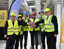 (L-R) Kijung Jung, Head of ITER Korea; Delegate of ITER China; Johannes Schwemmer, Director of F4E; Joaquín G. Vidal, Ferrovial; Bernard Bigot, Director of ITER Organization; Anatoly Krasilnikov, Head of ITER Russia at the handover ceremony held on the ITER construction site, Cadarache, France.