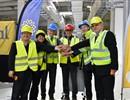(L-R) Kijung Jung, Head of ITER Korea; Delegate of ITER China; Johannes Schwemmer, Director of F4E; Joaquín G. Vidal, Ferrovial; Bernard Bigot, Director of ITER Organization; Anatoly Krasilnikov, Head of ITER Russia at the handover ceremony held on the ITER construction site, Cadarache, France.