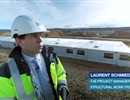 Laurent Schmieder, F4E's Project Manager for the ITER construction site, buildings and power supplies, gives us a guided tour on the ITER platform.