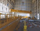 The first girder installed on the roof of the ITER Assembly Hall.