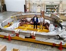 F4E's Technical Officers A. Cardella & L. Novello stand by the first JT-60SA TF coil in Japan
