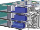 3D image of the ITER Port cells and casks, part of the Remote Handling system. Copyright: ITER IO
