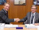 From left to right: Professor Henrik Bindslev, Director of Fusion for Energy, congratulating Mr. Phillipp Frantz, Managing Director of REEL S.A.S