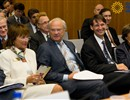 From left to right: Prof. Lena Treschow Torell, Head of the Swedish Royal Technology Mission, His Majesty King Carl XVI Gustaf of Sweden, and F4E Director Didier Gambier