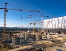 View of the ITER construction site- Site Services building and Assembly Hall, August 2016, LNM (copyright)