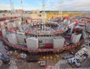 The ITER bioshield in progress, October 2015, ITER IO copyright