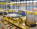 Winding tooling to be used for the manufacturing of ITER Poloidal Field coils, PF coils Facility, Cadarache, October 2016.