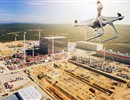 Fly with the F4E drone above the buildings and facilities of the biggest energy project