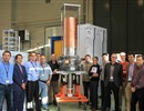 F4E, TED and EGYC representatives with the CW gyrotron prototype that passed all Factory Acceptance Tests