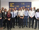 (L-R) Representatives of F4E, ITER Organization, Consorzio RFX, ALSYOM-SEIV at the kick-off meeting of all parties held in Barcelona, Spain.