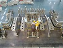 Parts placed together before assembly of the segment PS3 for the first VV sector, sector 5, at Walter Tosto.