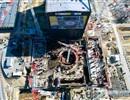 Aerial view of the ITER Tokamak complex consisting of the Tritium plant, the Tokamak and Diagnostics buildings. Cadarache, October 2016.