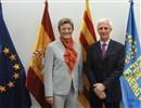 MEP Monika Hohlmeier and F4E Director, Frank Briscoe