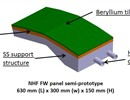 The use of beryllium in the first wall panel semi-prototype necessitates a rare specialised technology