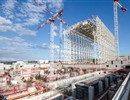 The roof the Assembly Hall building has been lifted, ITER construction site, September 2015 - © ITER IO