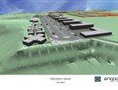 Artist's 3D impression of the adaptation works on the ITER site