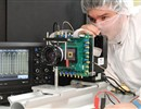 Expert testing the image sensor by taking some image. The sensor has been developed by ISAE SUPAERO (France) in collaboration with Veolia Nuclear Solutions (UK) through a contract financed by F4E.