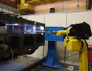 TIG welding robot performing preliminary welding procedures on a full size mock-up of the Test Blanket Modules box.
