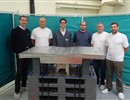 Members of the Atmostat team involved in the manufacturing of a full-scale prototype of the ITER first wall panel, financed by F4E.