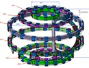 The EI contract is the first of several in order to produce Europe's contribution of PF coils, circular coils placed outside the toroidal magnet structure.