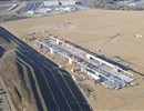 Aerial view of PF coils building December 2010